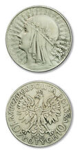 Poland Queen Jadwiga Silver Crown 10 Zlotych 1933 London Mint Cleaned