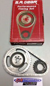 Small Block Chevy With FACTORY Roller Cam .250 Roller Timing Set S.A. GEAR 78150