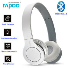 Rapoo S160 Wireless Bluetooth 4.1 Headset Stereo Touch Headphone Earphone W/ Mic