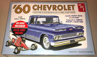 AMT 1960 Chevy Custom Fleetside Pickup with Go Kart 1:25 model car kit new 1063