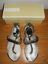 Fahrenheit Morena Strap Flat, Pewter, Size 6 Sandal's (New w/Box)