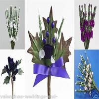 Scottish Heather Thistle Flower Stems Wedding Favour Decoration Craft