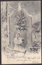 8881 Weihnachten Kinder Christkind Weihnachtsbaum Stern um 1900