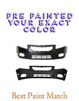 New PRE PAINTED Front Bumper Cover for 2011-2016 Chevy Cruze w Free Touchup
