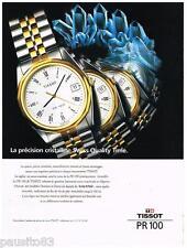 PUBLICITE ADVERTISING  105  1992  TISSOT  montre PR 100  SWISS PACK