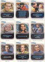 Star Trek Original - The Quotable - Complete Trading Cards SET (110) 2004 - NM