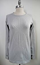 NEW LULULEMON Silver Spoon Light Gray Rest Less Restless Pullover Top sz 8 NWOT