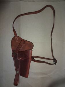 U.S. WWII M3 Brown Leather Shoulder Holster - Mid Brown - Reproduction G746