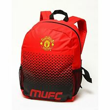 Manchester United Fc Backpack School Bag Holdal Fade Man Utd Rucksack