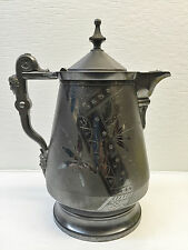 """Rogers Smith & Co Silver Tankard Pitcher 14"""" Antique 1868"""
