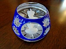 Cristalleries D' Albret HRH PRINCE CHARLES Sulphide Paperweight Cut OVERLAY