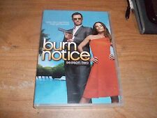 Burn Notice Season Two 2 (DVD, 2009, 4-Disc Set) Jeffrey Donovan TV Show NEW
