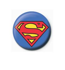 Superman Classic Logo 25mm Button Pin Badge DC Comics Justice League Logo