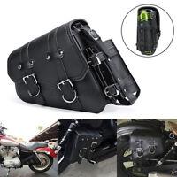 Left Side Motorcycle Side Saddle Bag Tool Bag For Honda For Suzuki For