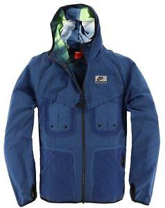 Nike Herren Jacke Jacket Gr.M Übergangsjacke Windjacke mit Kapuze Blau 117252