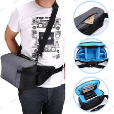 Waterproof DSLR Camera Shoulder Bag Carry Messenger Bag Handbag Sling Waist Bag