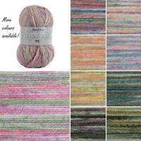 James C Brett Stonewash DK Acrylic Yarn Knitting Crochet Craft 100g Ball