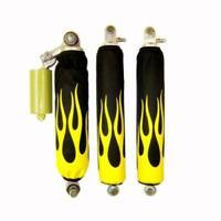 For Honda TRX 700xx Yellow Flame Black ATV Shock Cover #M202204