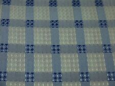 MODERN COUNTRY TARA WHITE & BLUE CHECK TABLECLOTH 150 CM X 230 CM POLYESTER