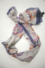 NEUF GUESS grand écharpe en tissu Foulard 100% soie 155cm X 45cm (59) 10-14