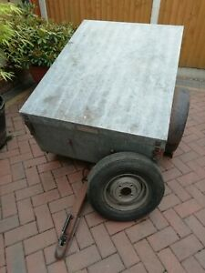 Camping Trailer with Metal Lockable Lid, Hitch lock and Spare wheel