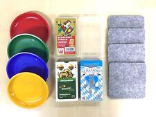 Schafkopfkarten-Set mit Leinen-Spielkarten 4 Geldschüsserl und 4 Filzuntersetzer
