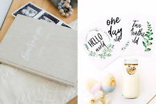 Fern Baby Milestone Cards and Pregnancy Journal to record Pregnancy Milestones