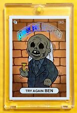 "2018 SSFC ""TRY AGAIN BEN"" (Hot Foil Header) Super Chase Card Sticker (#6D) RARE!"