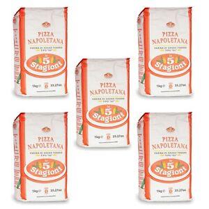 Le 5 Stagioni Napoletana Pizzamehl Typ 00 (5x 1 kg), für neapolitanische Pizzen