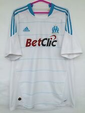 OLYMPIQUE DE MARSEILLE 2010 2011 ADIDAS HOME FOOTBALL SOCCER SHIRT JERSEY