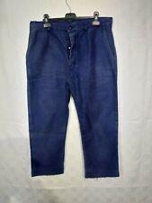 ancien pantalon de travail moleskine bleue  C27