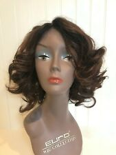 """IMAN WIG, GORGEOUS LOCKS COLLECTION-""""HOLLYWOOD CURLS"""" - AUBURN RED"""