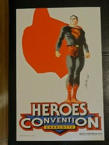Heroes Convention Exclusive 2014 Superman Print by Rafael Albuquerque 1200 made