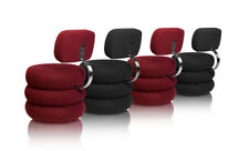 Circular cashmere dining lounge chair with an comfortable backrest.Red grey blac