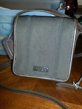 Coach Fabric/Synthetic & Leather Trim Small Brown Cross Body Messenger Bag #6213