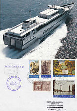 ITALIAN FERRY MV SCATTO A SHIPS CACHED COVER & MAGAZINE PICTURE