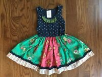 Girls Matilda Jane Platinum Cranberry Pie Dress HTF size 2