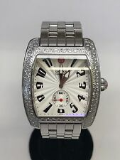 1.00tcw Michele Urban Diamond and Stainless Steel Watch Quartz