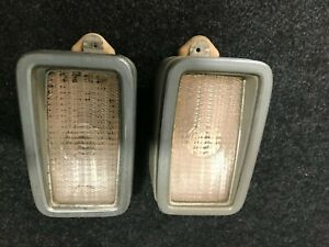 1973 Mustang Mach 1 Grill Turn Signal Parking Lamp Light Trim Bezel COMPLETE