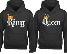 King Queen COLOR Couple Matching HOODIE Valentines Day Love Matching Sweatshirt