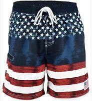American Flag Swim Trunks USA Swimsuit S M L XL 2XL  Men's