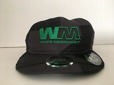 New Era Waste Management WM Black Gray Hat Mens OS Adjustable NEW!
