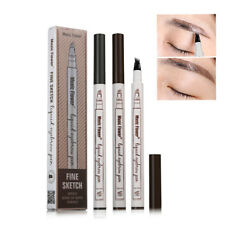 1pc Brown Makeup Microblading Eyebrow Tattoo Pen Fork Tip Sketch Pencil Comestic