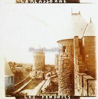 Carcassonne Francia Foto Stereo PL59L1n58 Placca Da Lente Vintage c1910