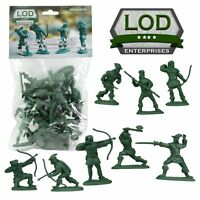 BARZSO LOD Robin Hood Merrymen Outlaws 60MM 16 Plastic Toy Soldiers FREE SHIP