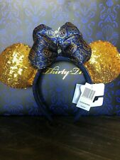 EXCLUSIVE Disney Club 33  Sequined Minnie Ears! NEW WITH TAGS!