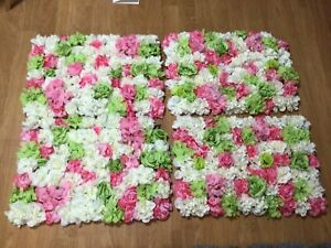12 Artificial Flowers panels  Wall Home Decor Wedding Party Background-Pink Rose
