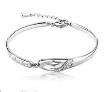 Unbranded Cubic Zirconia White Gold Plated Fashion Bracelets