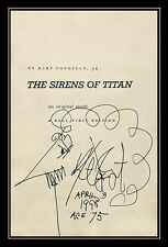 Kurt Vonnegut Original SIGNED BOOK Sirens of the Titan Illustration Drawing Rare