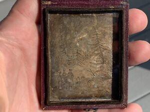 Antique UNUSUAL Daguerreotype - Print of Lewis & Clark? Westerners?